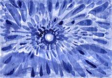 De zon van de winter Abstracte inkt die op papier trekken royalty-vrije illustratie