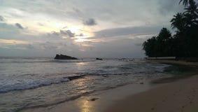 De zon was in het strand stock foto