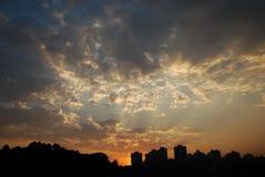 De zon wekt Stock Afbeeldingen