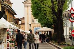 De zondaglandschap van de Lainatestad Royalty-vrije Stock Foto