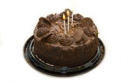 De zondige cake van de chocoladeverjaardag Royalty-vrije Stock Afbeeldingen