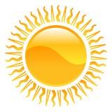 De zonillustratie van het weerpictogram clipart Stock Afbeelding