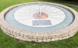 De Zonklok van Derbyshire van het Swadlincotepark Stock Afbeeldingen