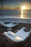De Zonlanterfanters van het cruiseschip Royalty-vrije Stock Afbeeldingen