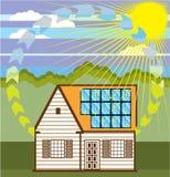 De zonne Efficiënte Vector van Duurzame energieeco stock illustratie