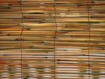 De zonneblinden van het riet royalty-vrije stock afbeelding