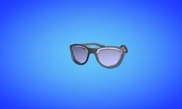De zonnebril op blauw, 3d geeft terug royalty-vrije illustratie
