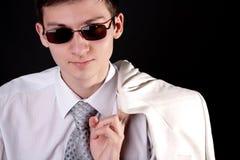 De zonnebril van de jonge mensenV.N. Royalty-vrije Stock Fotografie