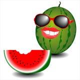 De zonnebril van het meloengezicht Stock Foto