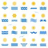 De zonnen van de inzameling Stock Afbeeldingen