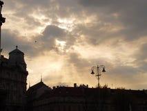 De zonnenstralen Stock Afbeelding