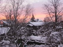De zonneschijn in het platteland stock afbeelding