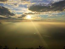 De zonneschijn van de goedemorgen Stock Foto's