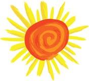 De Zonneschijn van Swirly vector illustratie