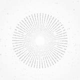 De zonneschijnlijn van de Hipster abstracte retro radiale zonnestraal starburst Stock Fotografie