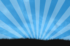 De zonnestraal van de hemel stock illustratie