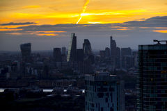 De zonnestralen van Londen Stock Afbeelding