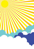 De zonnige Achtergrond van de Affiche stock illustratie