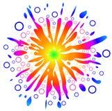 De zonnige Achtergrond van de Liefde van de Vrede, gemakkelijk Editable, Vect Royalty-vrije Stock Afbeelding
