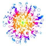 De zonnige Achtergrond van de Liefde van de Vrede, gemakkelijk Editable, Vect Stock Foto's