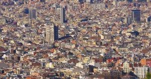 De zonnige dag van Barcelona panoramisch van de stad 4k Spanje stock footage