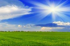 De zonnige dag van de lente Stock Afbeelding