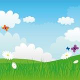 De zonnige dag van de lente Stock Foto