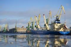 De zonnige dag van februari bij Kanonersky-kanaal St Petersburg Royalty-vrije Stock Foto