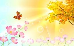 De zonnige herfst Stock Afbeelding