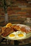 De zonnige kant van eieren omhoog Stock Fotografie