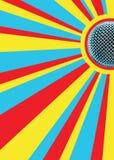 De zonnige Mic Achtergrond van de Disco stock afbeeldingen