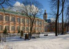 De zonnige winter dag i Royalty-vrije Stock Foto's