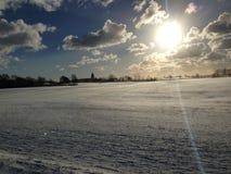 De zonnige winter nog Stock Afbeeldingen