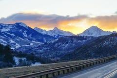 De zonreeks van Colorado snowmass stock foto's