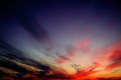 De zonsondergang. Royalty-vrije Stock Afbeelding