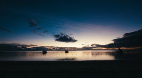 De zonsondergang Royalty-vrije Stock Foto's