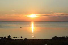 De zonsondergang royalty-vrije stock foto