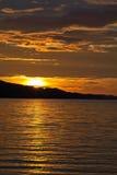 De Zonsondergang Busuanga Filippijnen van het Seizoen van de moesson Royalty-vrije Stock Afbeeldingen