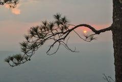 De zonsondergang Pha Lom Sak een vallei bekijkt Royalty-vrije Stock Afbeeldingen
