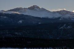 De zonsondergang snakt Piek stock foto