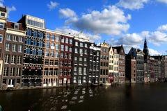 De zonsondergang van Amsterdam stock foto's