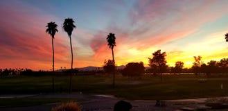 De Zonsondergang van Arizona stock afbeeldingen