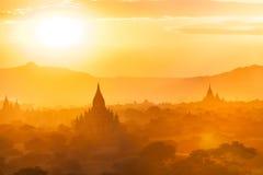 De Zonsondergang van Bagan Royalty-vrije Stock Foto's