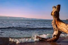 De zonsondergang van Baikal Stock Foto's