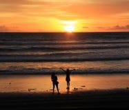De Zonsondergang van Bali Stock Foto's