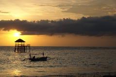 De zonsondergang van Bali royalty-vrije stock afbeelding