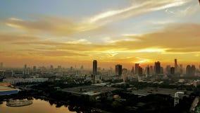 De zonsondergang van Bangkok Royalty-vrije Stock Afbeelding