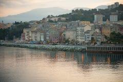 De Zonsondergang van Bastia Royalty-vrije Stock Foto