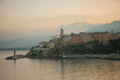 De Zonsondergang van Bastia Royalty-vrije Stock Fotografie