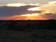 De zonsondergang van de berg Stock Fotografie